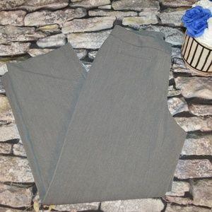 Liz Claiborne Womens Gray Audrey Work Pants Size 8